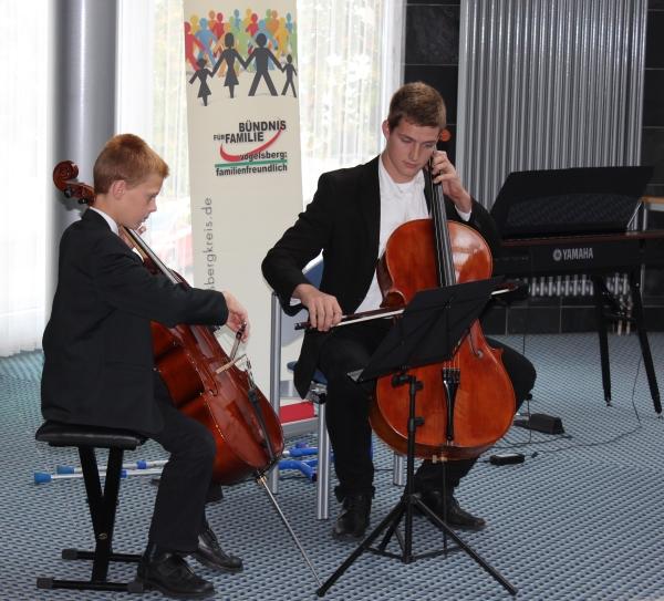 Für den musikalischen Rahmen sorgten die virtuosen Kinder der Familie Neuhof aus Schlitz.